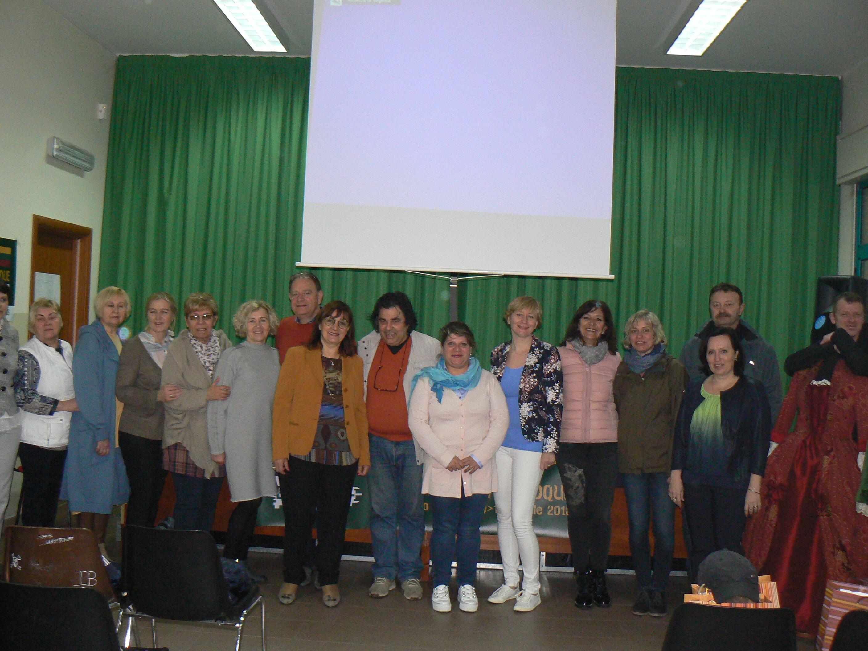 I docenti della scuola e gli stranieri del progetto sul barocco