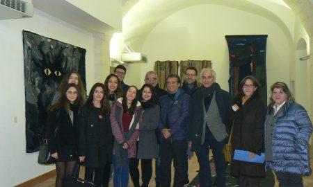 Gli studenti dell'Artistico che hanno curato allestimento mostra al Vaccaro