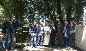 Inaugurazione stele per i caduti in guerra alla villa di Palazzolo