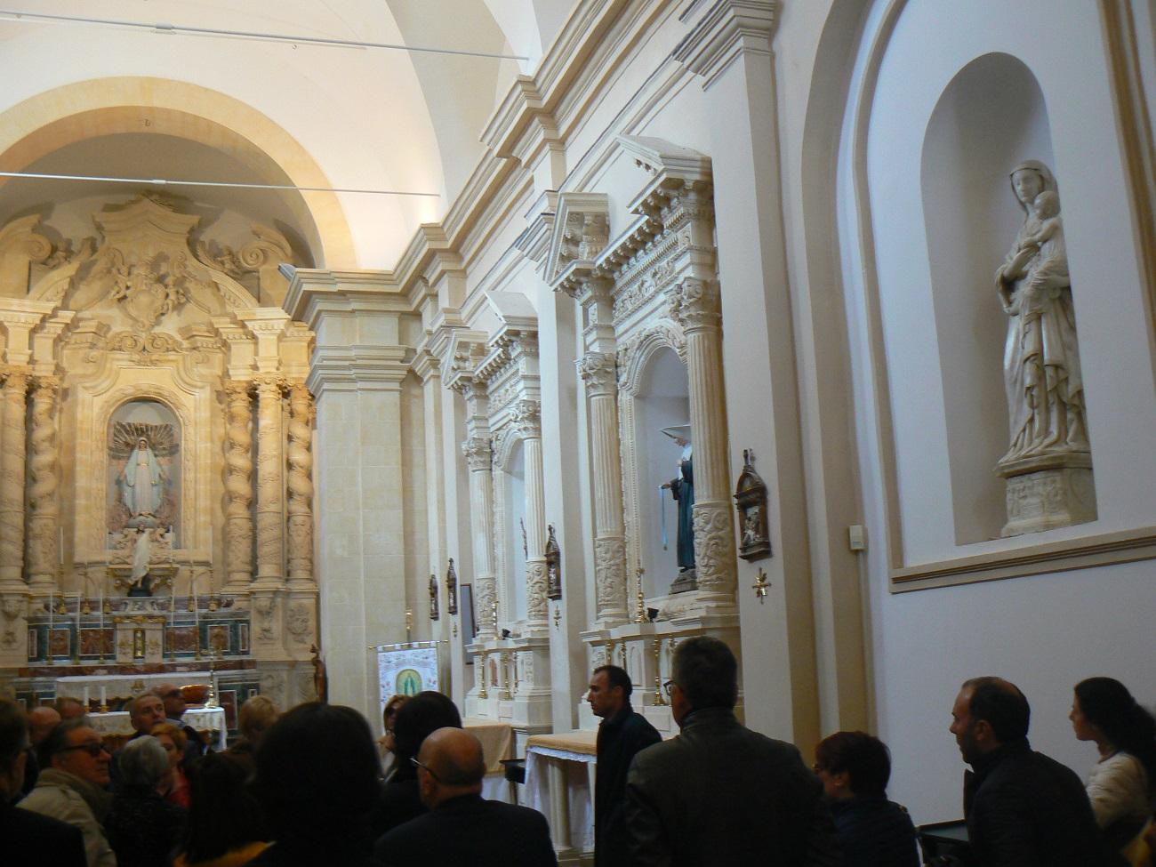 La visita all'Immacolata di Palazzolo