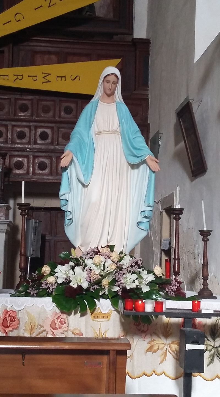 La Madonna del rosario nella chiesa di San Francesco