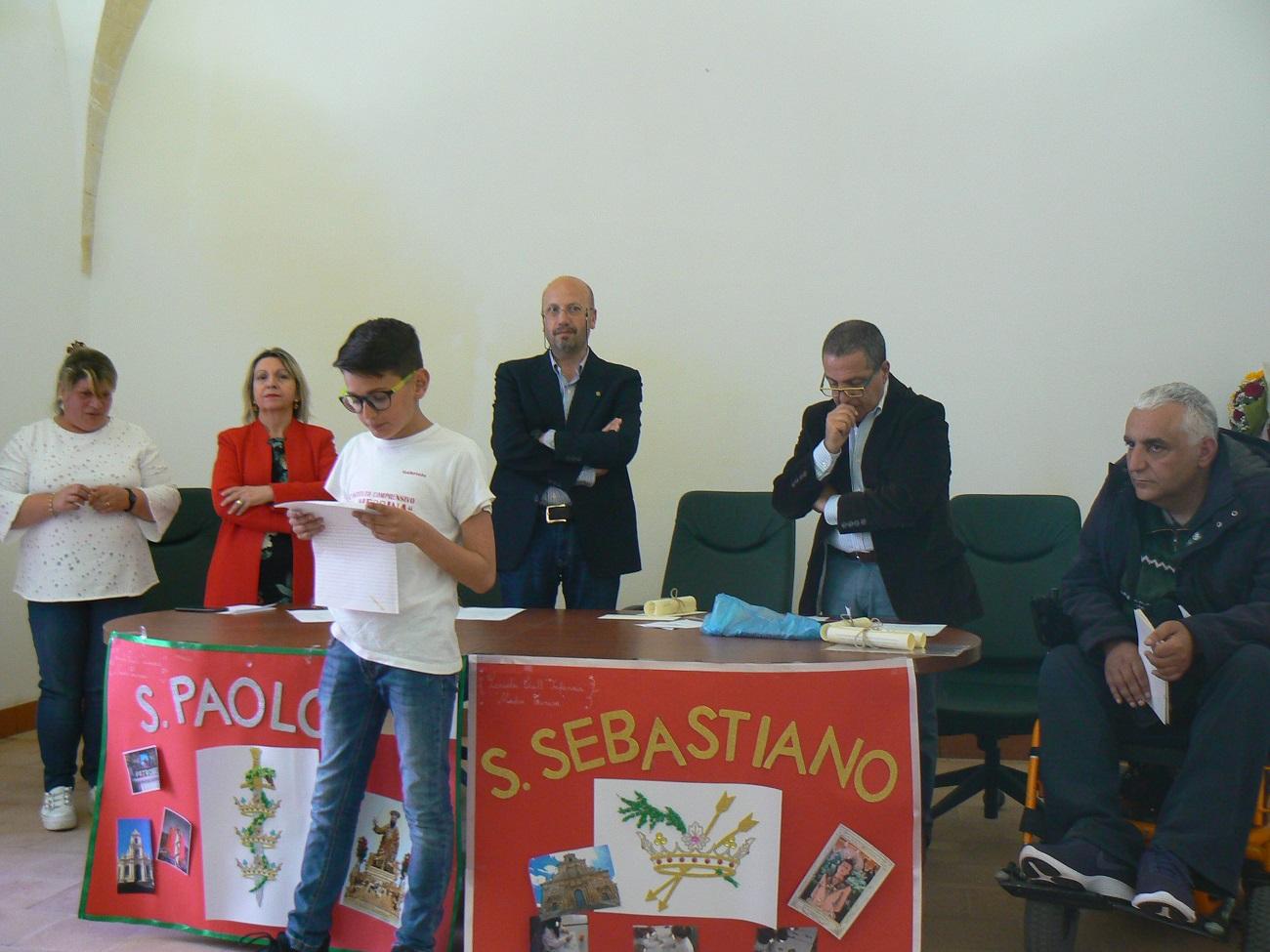 Uno degli studenti premiati al concorso del Rotary di Palazzolo