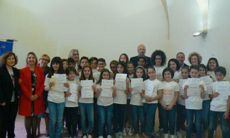 Gli studenti che hanno partecipato al concorso del Rotary di Palazzolo