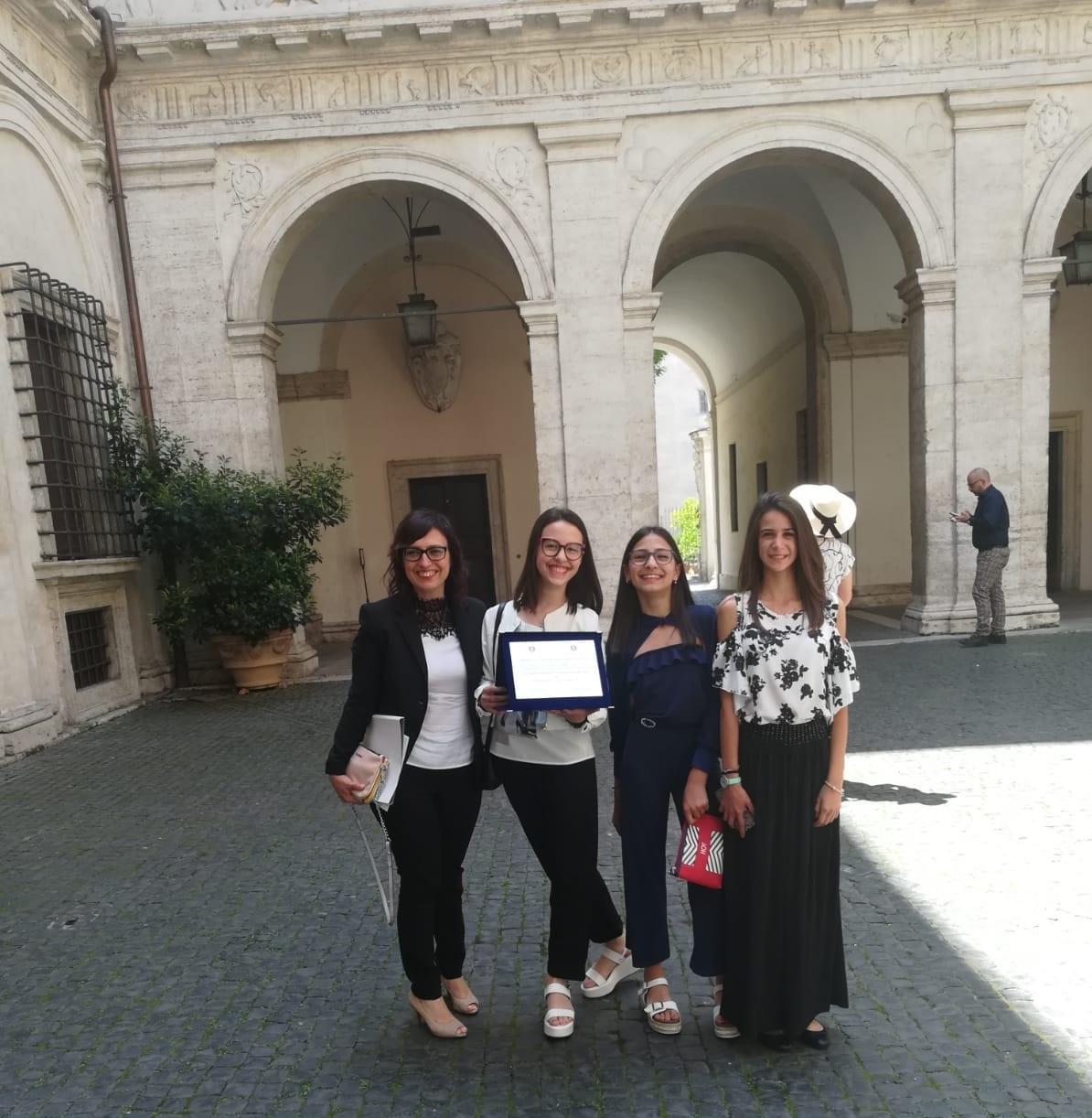 Le alunne premiate a Roma