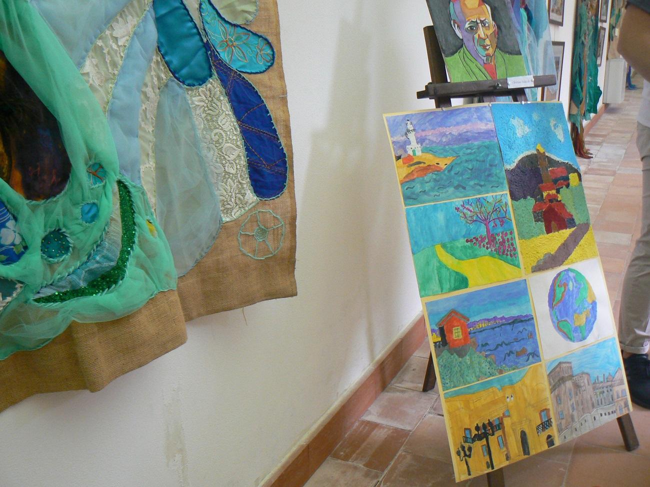 Alcune opere degli studenti in mostra a Palazzolo
