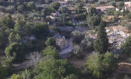 La chiesa della Madonna delle Grazie dall'alto