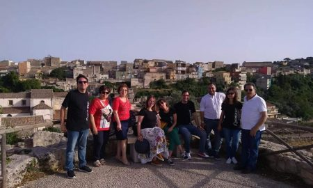 I partecipanti all'Archeofest di Palazzolo