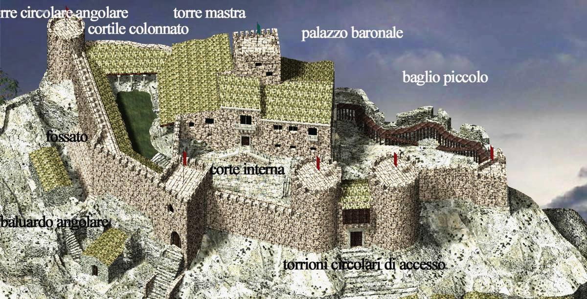 Un'altra immagine della ricostruzione del Castello di Palazzolo