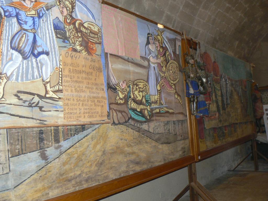 Altri pannelli in mostra alla casa museo di Palazzolo