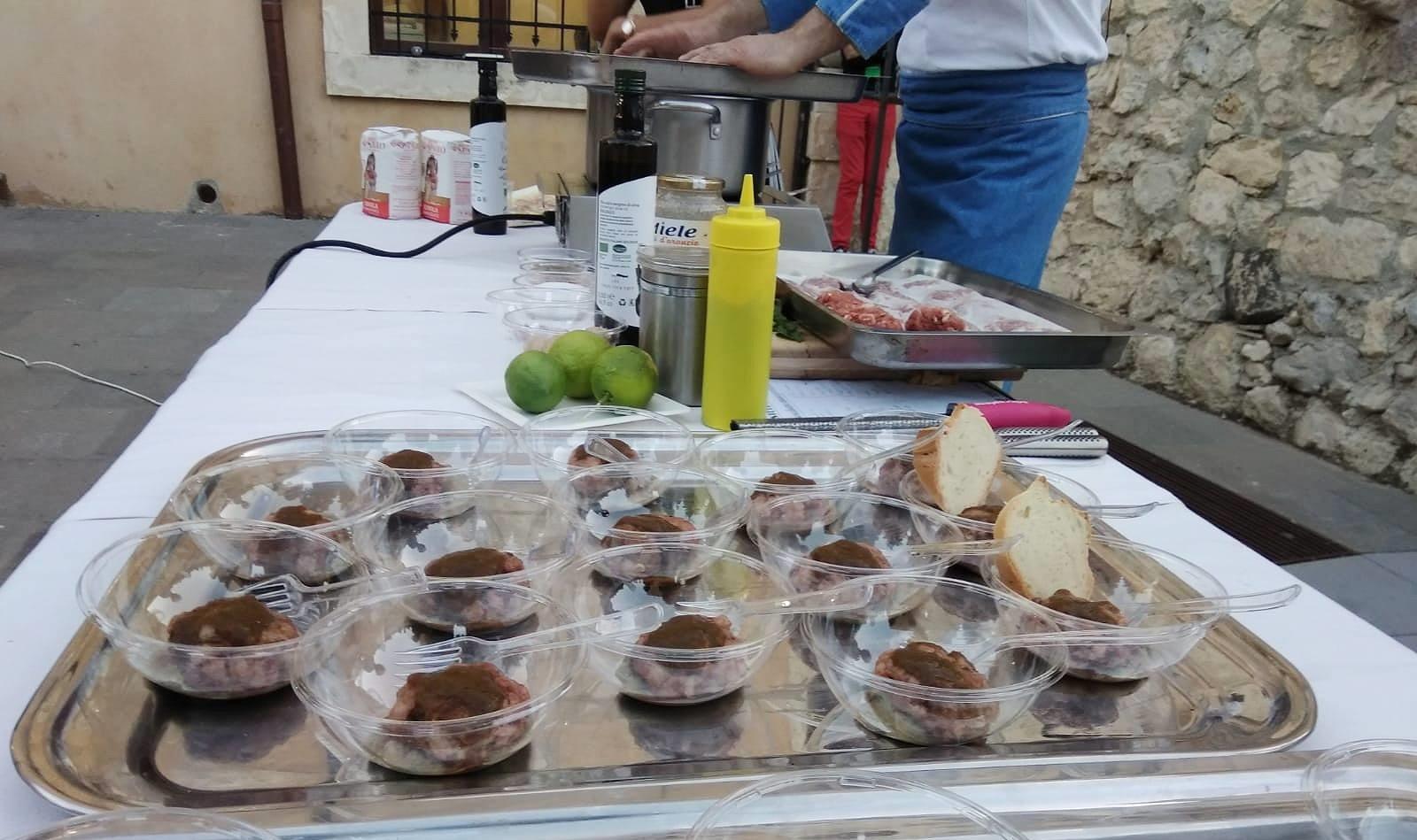 I piatti realizzati durante la degustazione al Pac