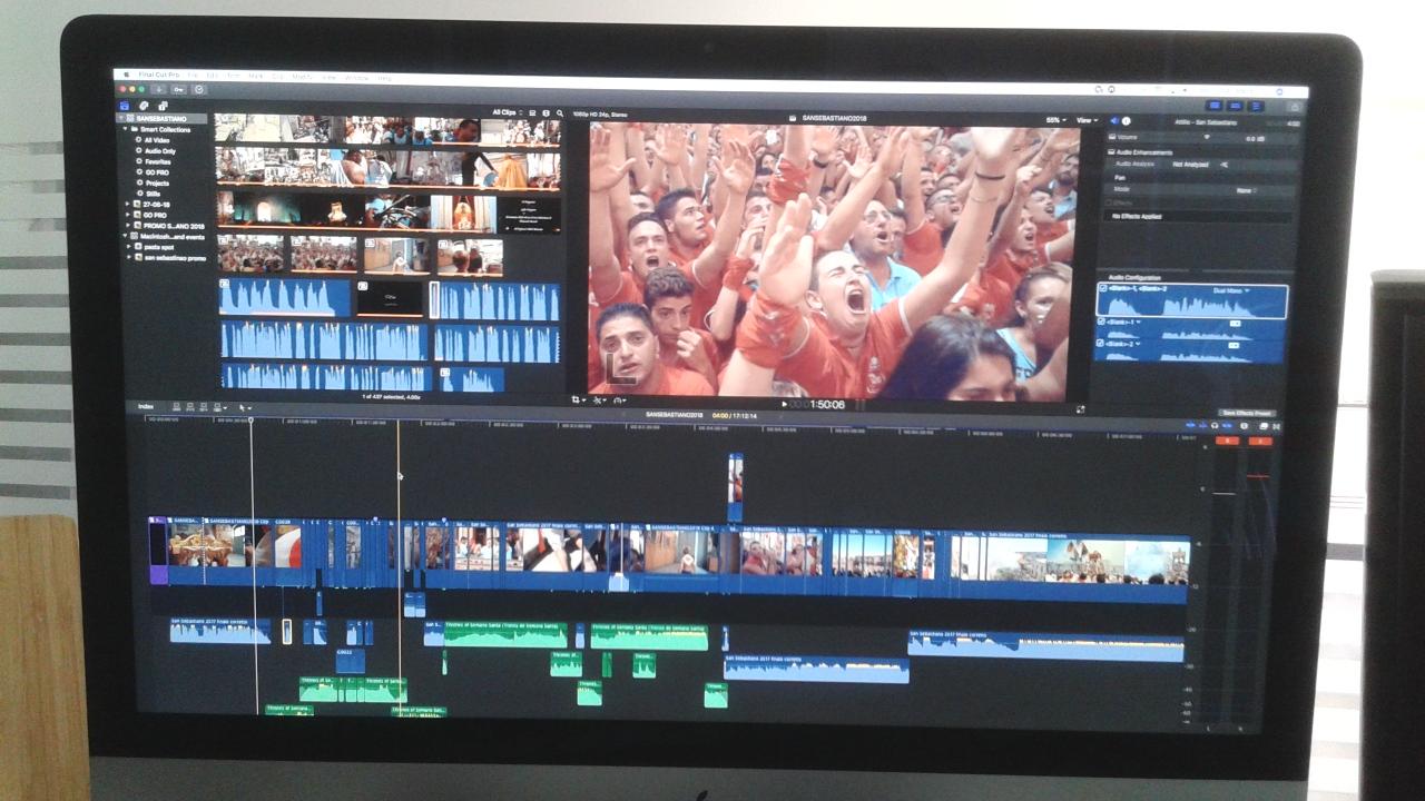 Le fasi di montaggio del documentario su San Sebastiano