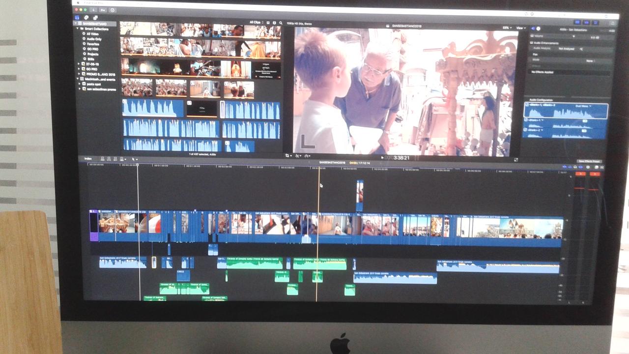 Il montaggio del video su San Sebastiano
