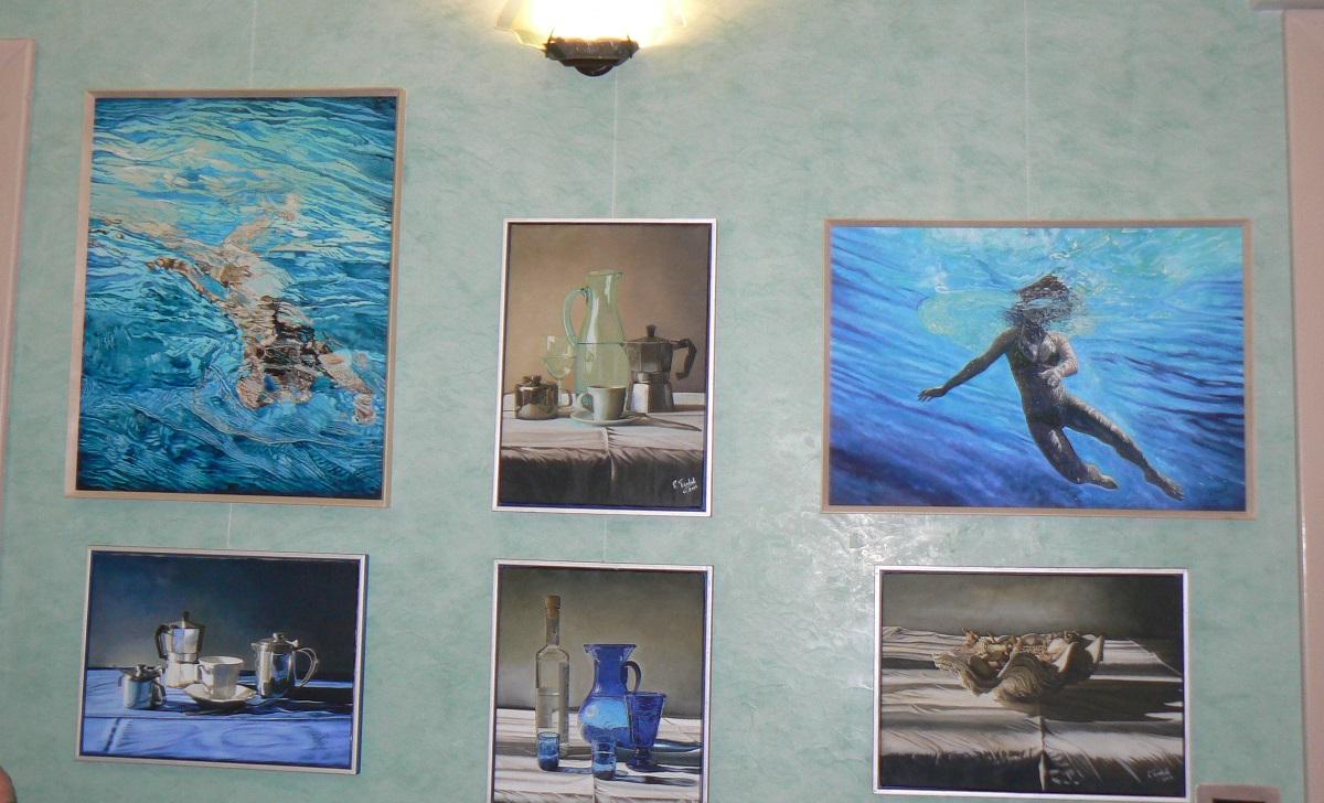 Altri dettagli dei quadri in mostra a Palazzolo