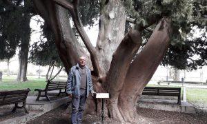 Enzo Marabita alla villa di Palazzolo