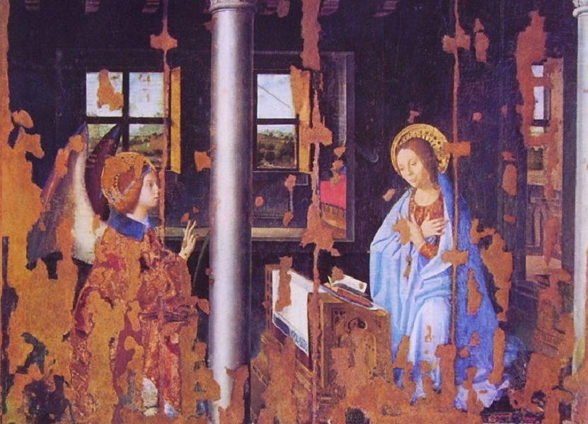 Rinascimento del Opera Annunciazione di Antonello,