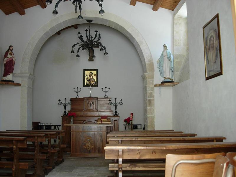 interno della Chiesa del Soccorso oggi