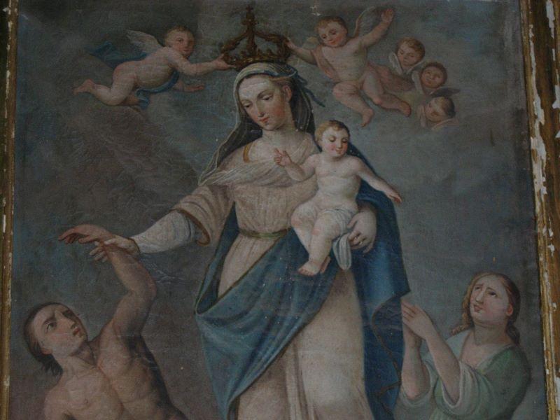 Particolare del quadro della Madonna del Soccorso
