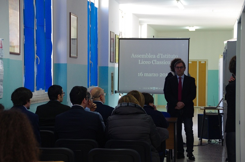 Roberto Di Bella parla agli studenti di Palazzolo