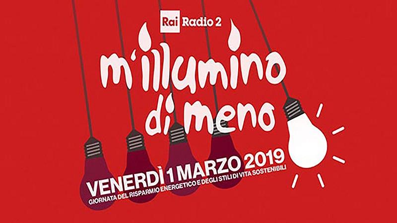 M'Illumino Di Meno -logo dell'iniziativa 2019