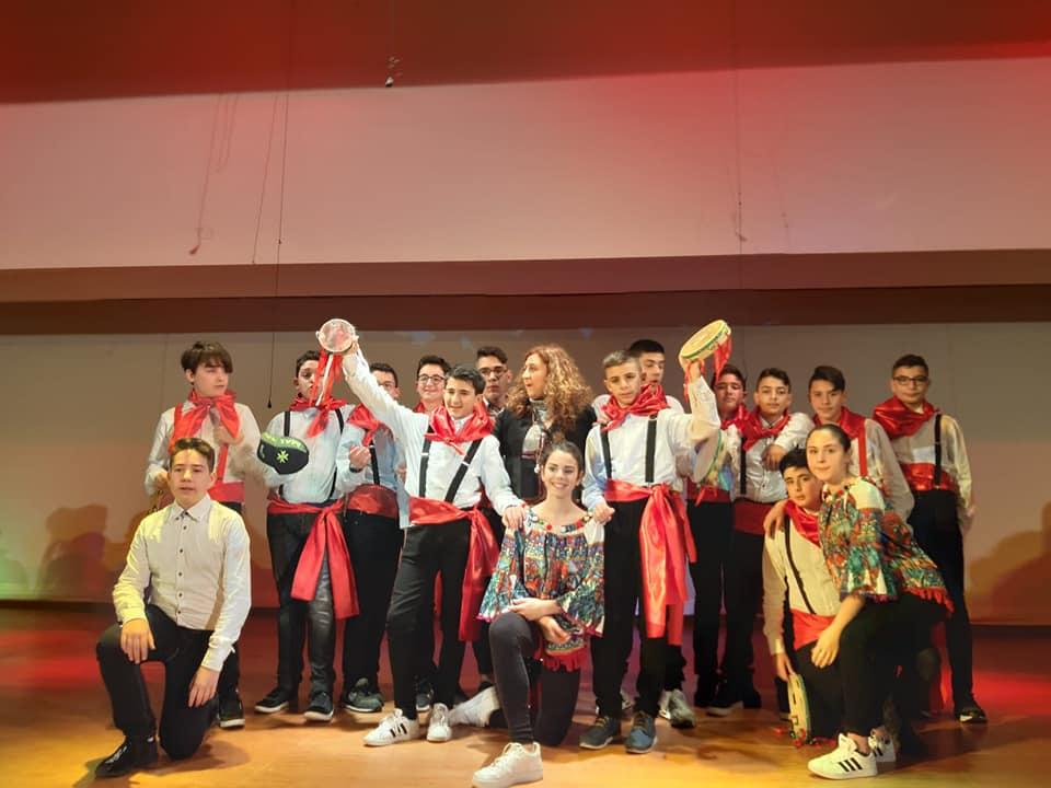 Gemellaggio Tra Scuole Di Palazzolo E Di Malta - i ragazzi siciliani che hanno ballato a Rabat