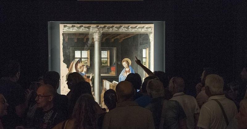 L'Annunciazione esposta a Palazzolo con la Madonna con bambino del Laurana