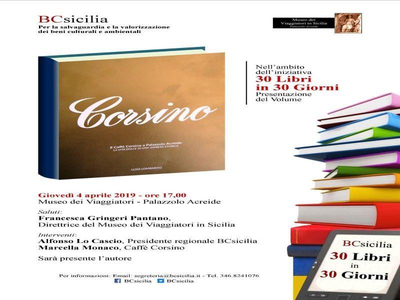 Locandina della presentazione del libro sulla Pasticceria Corsino