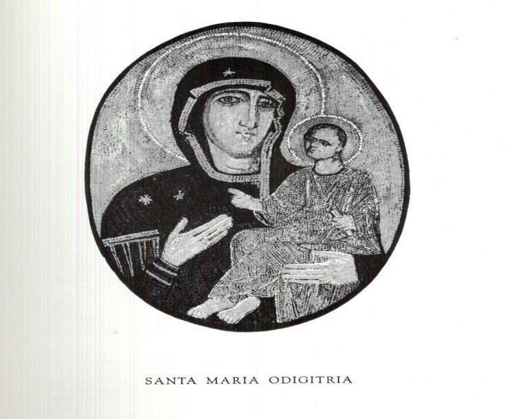 Maria Ss.Odigitria, come viene rappresentata da san Luca e proveniente dalla grecia