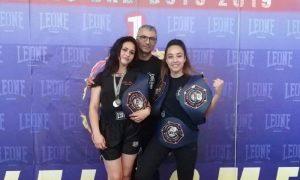 Gli atleti di kick boxing Liotta, Vasile, Leone