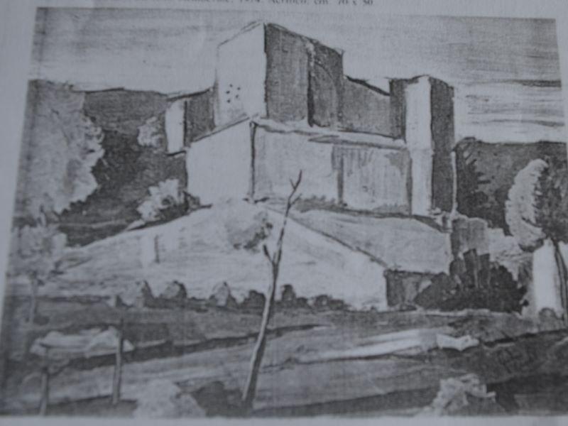 Vincenzo Teodoro, Castello Medievale-ruderi del castello, del 1974 , acrilico