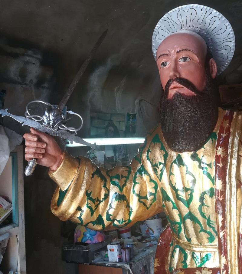Particolare Statua di San Paolo