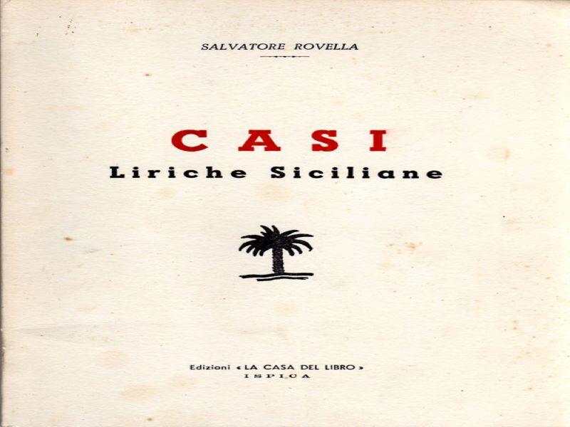 Turi Rovella Liriche siciliane, libro intitolato Casi
