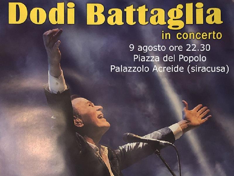 Festeggiamenti - Locandina del concerto di Dodi Battaglia