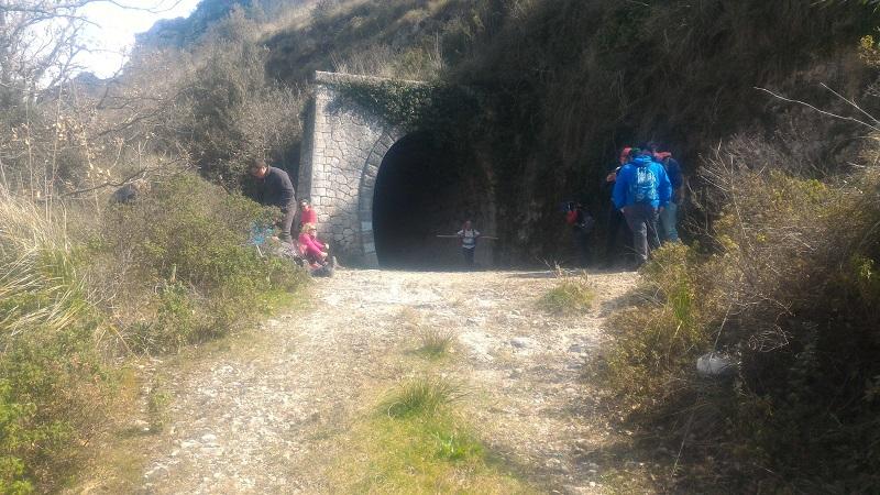 Gruppo Trasversale Sicula che ha effettuato un percorso di trekking nell'antica valle