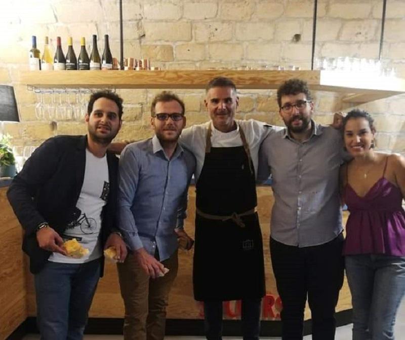 I ragazzi del Soccorso con lo chef Baglieri