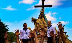 La festa dell'Addolorata a Palazzolo un momento dopo la sciuta