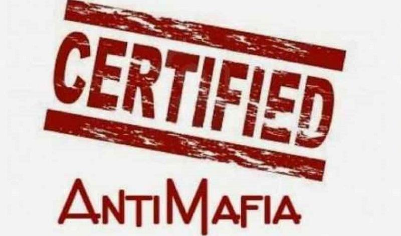 Il logo sulla Certificazione Antimafia