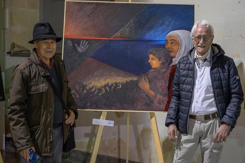 Gli artisti Giorgio Migliori e Giuseppe Ranno espongono alla mostra per le donne