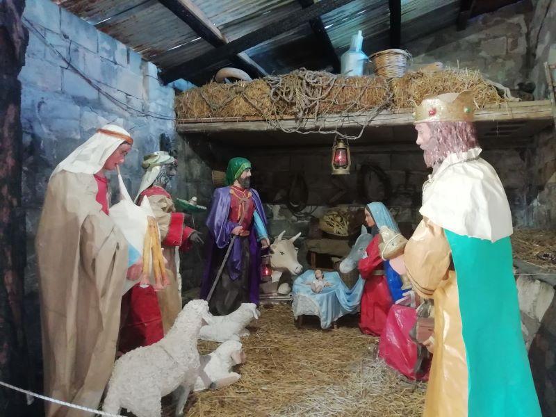 Presepe di cartapesta a Cassibile, Natività