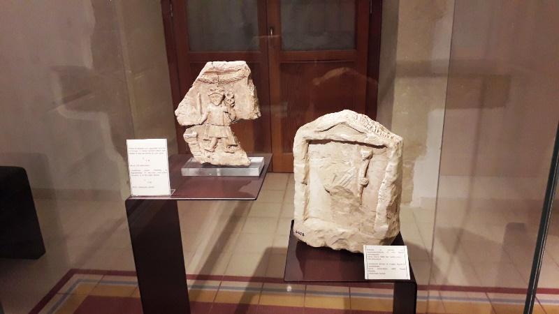 Reperti di archeologia al museo di Palazzolo