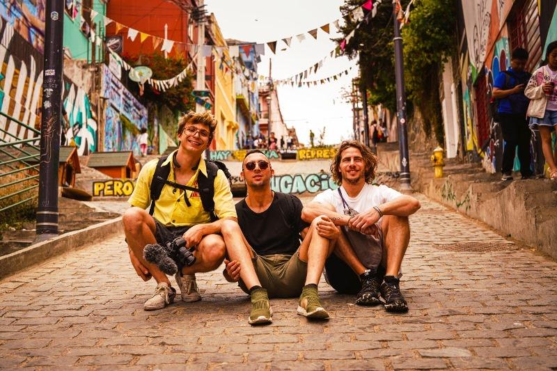 Frano Dubini con gli amici Zizza e Monao