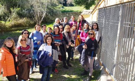 Guide turistiche in visita ai Santoni