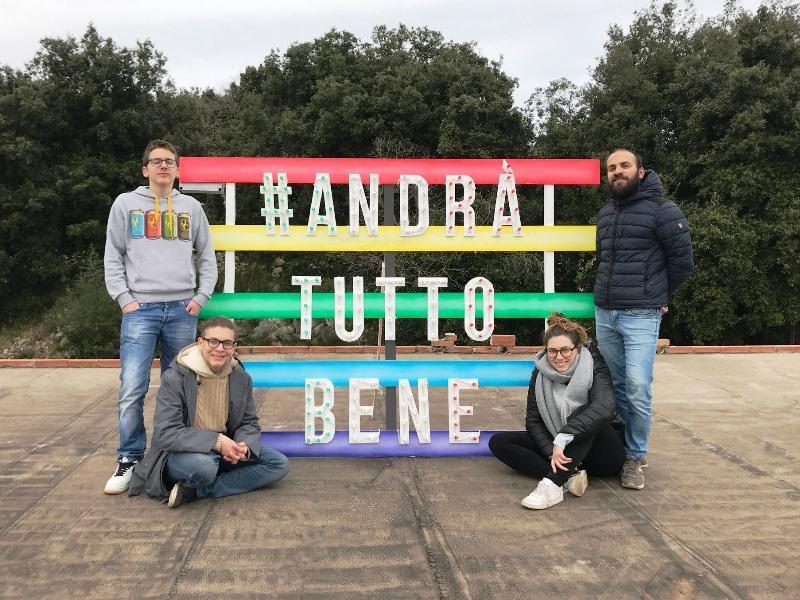 Un'installazione è stata realizzata da quattro giovani di Palazzolo