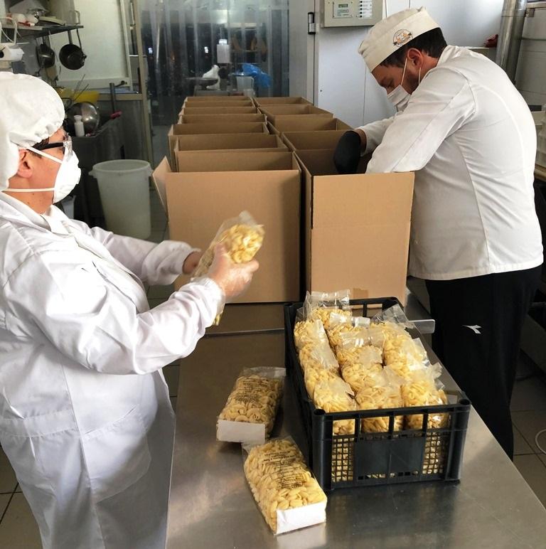 Pasta realizzata per solidarietà a Palazzolo