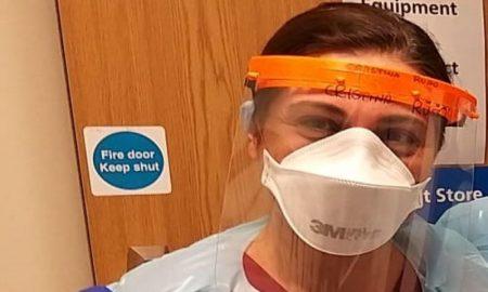 Cristina Russo preparata per entrare in ospedale
