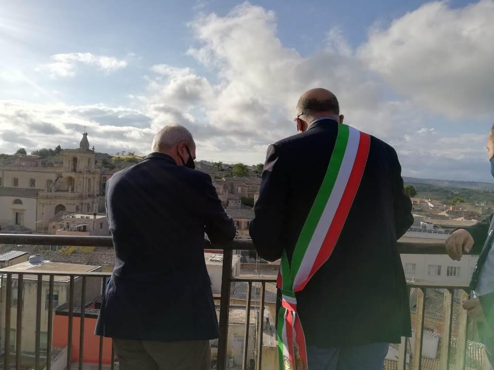 L'assessore regionale ai Beni culturali Samonà a Palazzolo