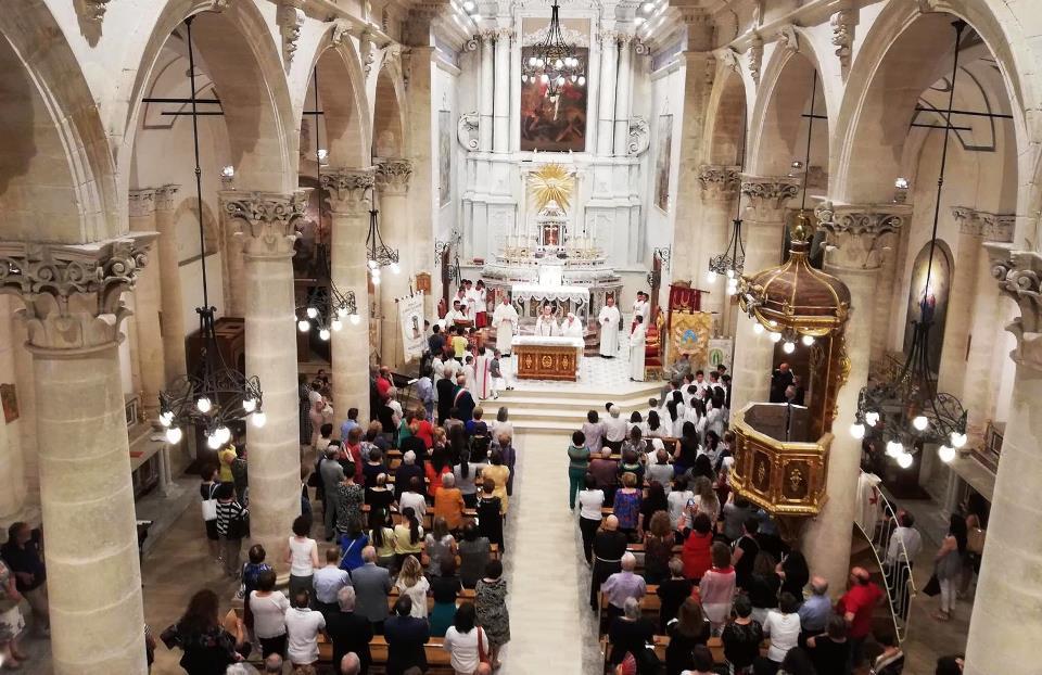 La chiesa di San Michele dove è sttao parroco don Salvatore Randazzo