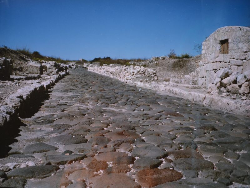 Strada Romana nella zona archeologica di Akrai (foto Santoro Ugo)