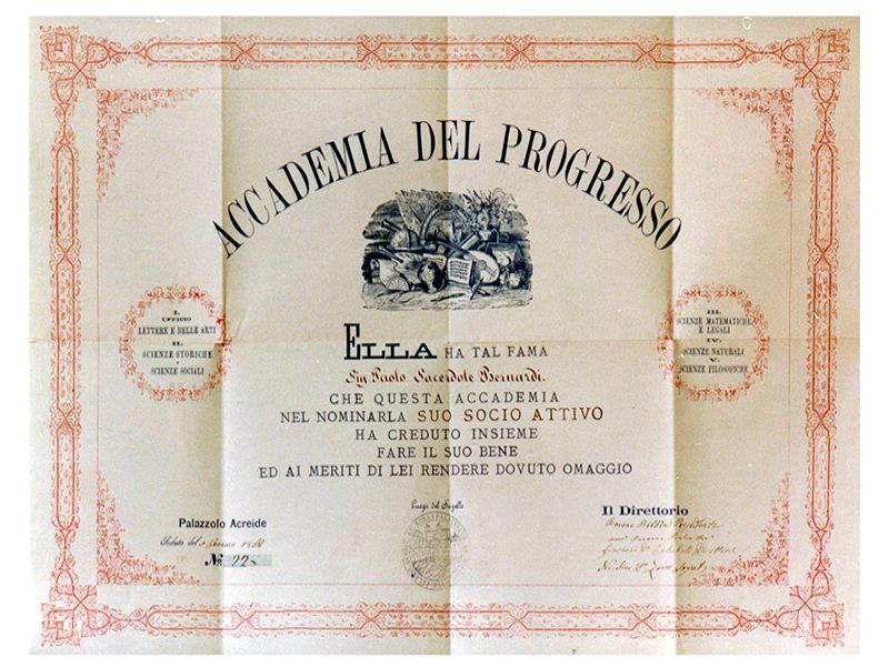 Ottocento borbonico: Accademia Del Progresso