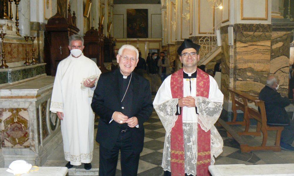 Parrocchia San Sebastiano l'arrivo dell'arcivescovo e don Randazzo