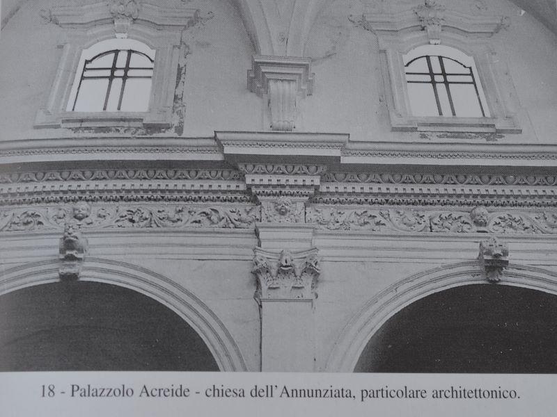 Architetto Ferrara: particolare della Chiesa Annunziata
